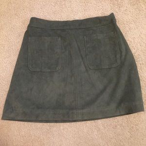 Abercrombie And Fitch 2 Olive Green Skirt